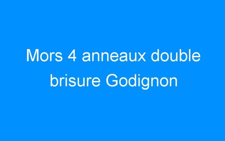 Mors 4 anneaux double brisure Godignon