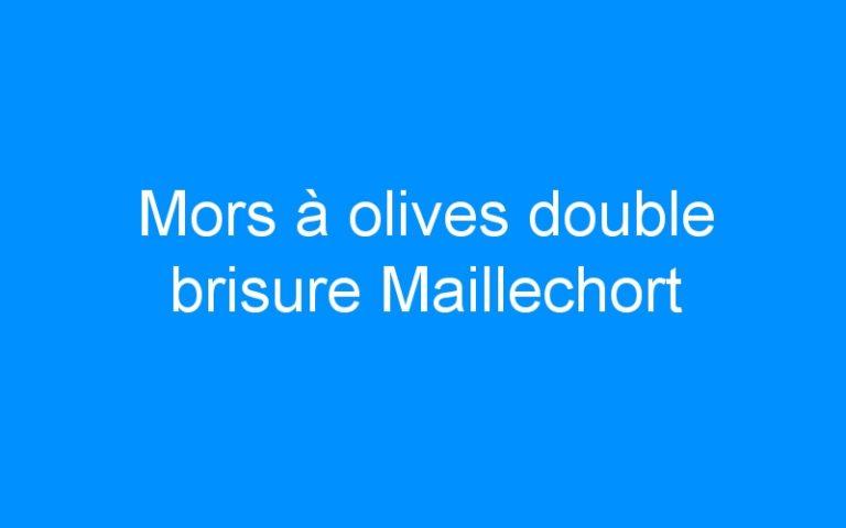 Mors à olives double brisure Maillechort