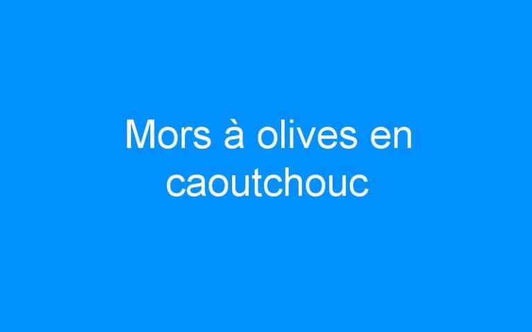 Mors à olives en caoutchouc