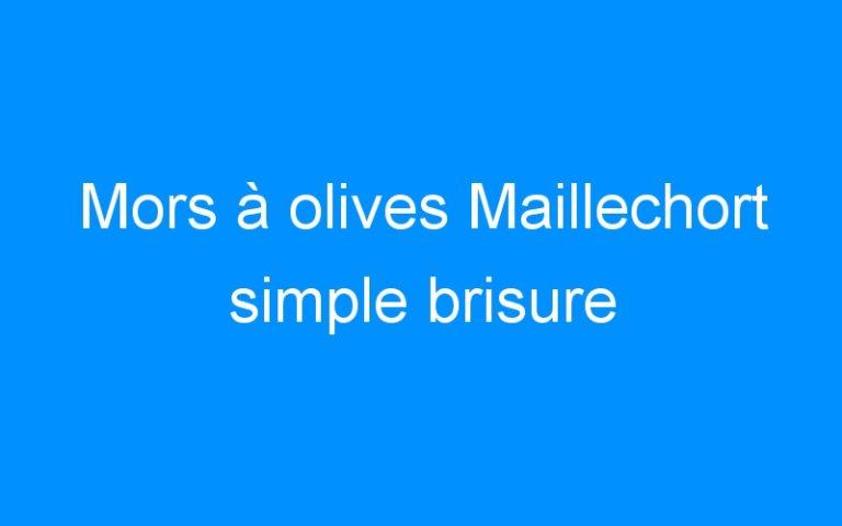 Mors à olives Maillechort simple brisure