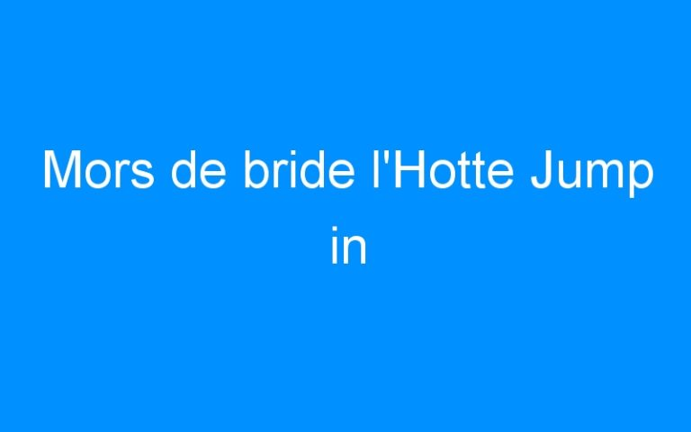 Mors de bride l'Hotte Jump in