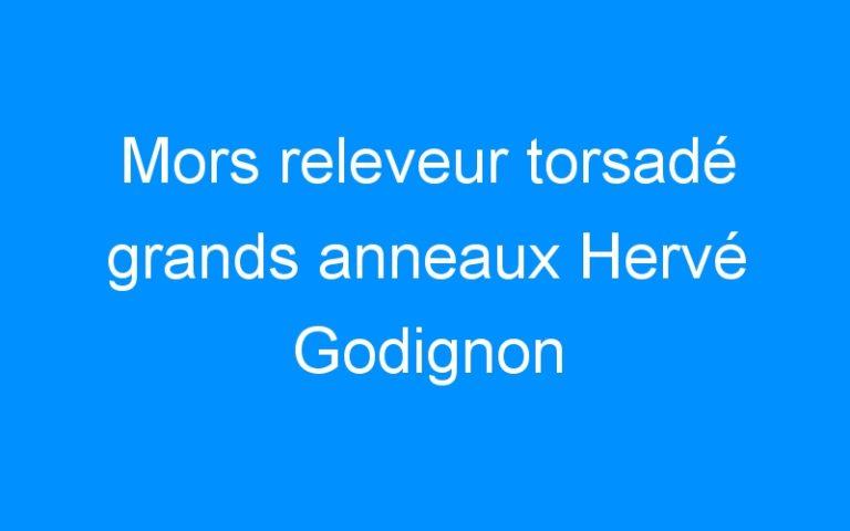 Mors releveur torsadé grands anneaux Hervé Godignon