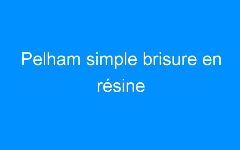 Pelham simple brisure en résine