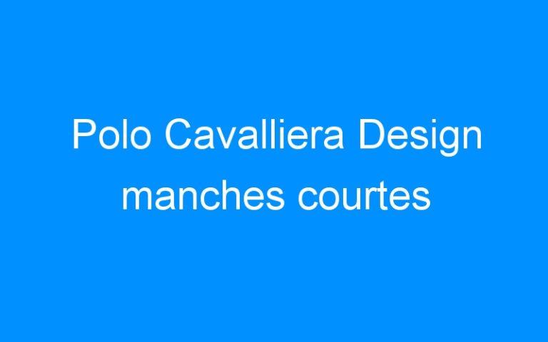 Polo Cavalliera Design manches courtes