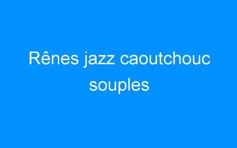 Rênes jazz caoutchouc souples