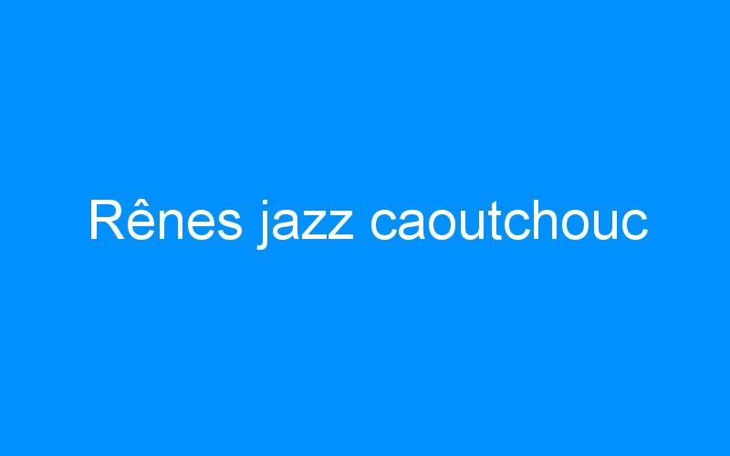 Rênes jazz caoutchouc