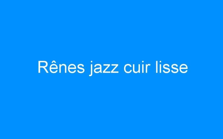 Rênes jazz cuir lisse