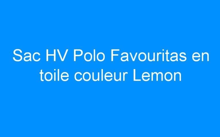 Sac HV Polo Favouritas en toile couleur Lemon