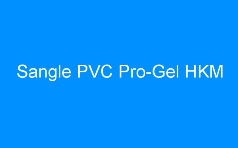 Sangle PVC Pro-Gel HKM