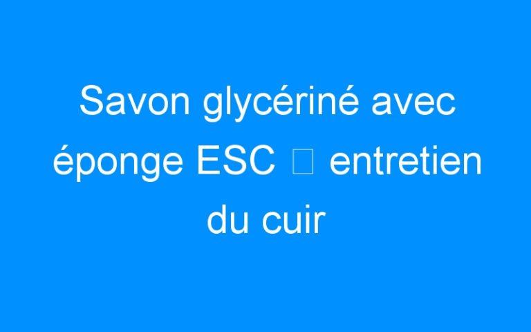 Savon glycériné avec éponge ESC ⇒ entretien du cuir