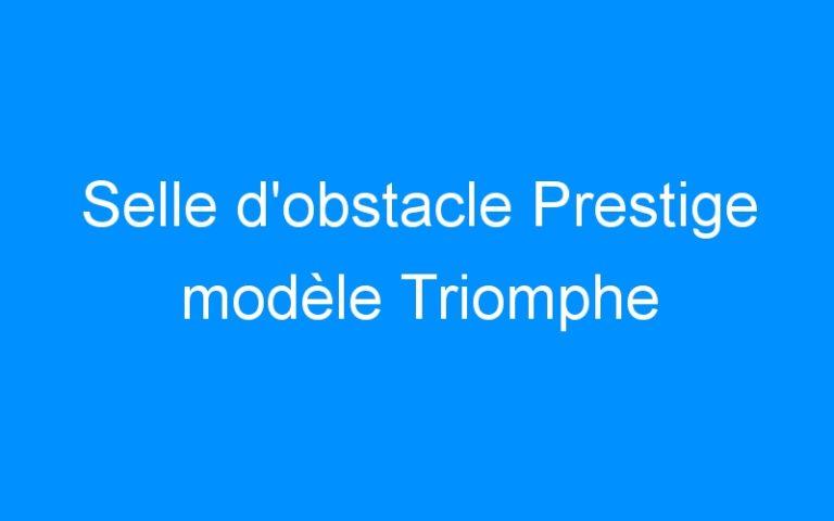 Selle d'obstacle Prestige modèle Triomphe