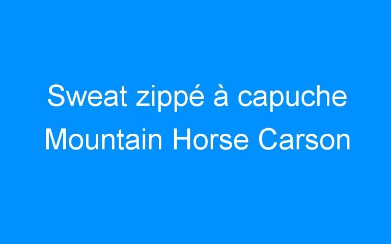 Sweat zippé à capuche Mountain Horse Carson