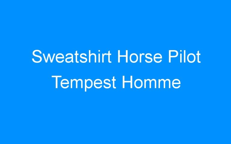 Sweatshirt Horse Pilot Tempest Homme
