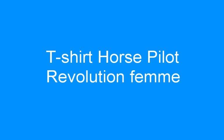 T-shirt Horse Pilot Revolution femme