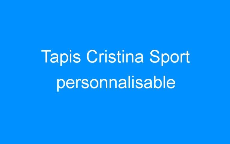Tapis Cristina Sport personnalisable