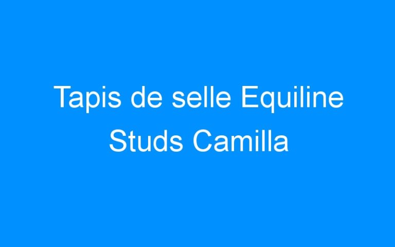 Tapis de selle Equiline Studs Camilla