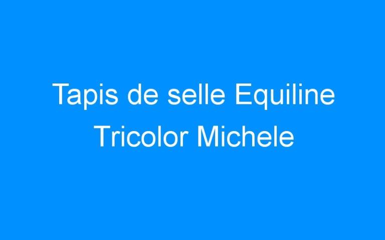 Tapis de selle Equiline Tricolor Michele