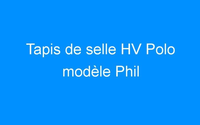 Tapis de selle HV Polo modèle Phil