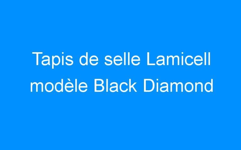 Tapis de selle Lamicell modèle Black Diamond
