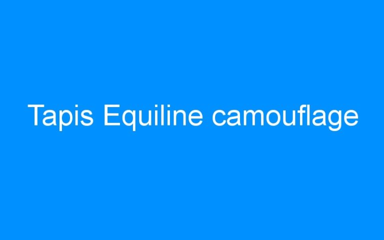 Tapis Equiline camouflage