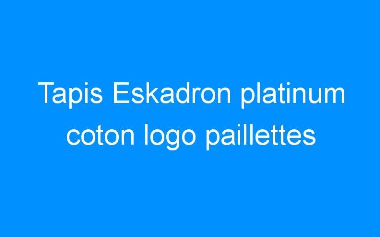 Tapis Eskadron platinum coton logo paillettes