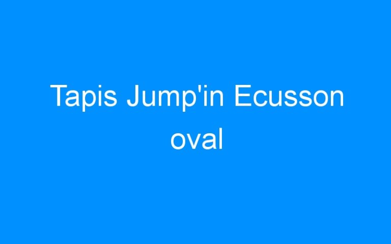 Tapis Jump'in Ecusson oval