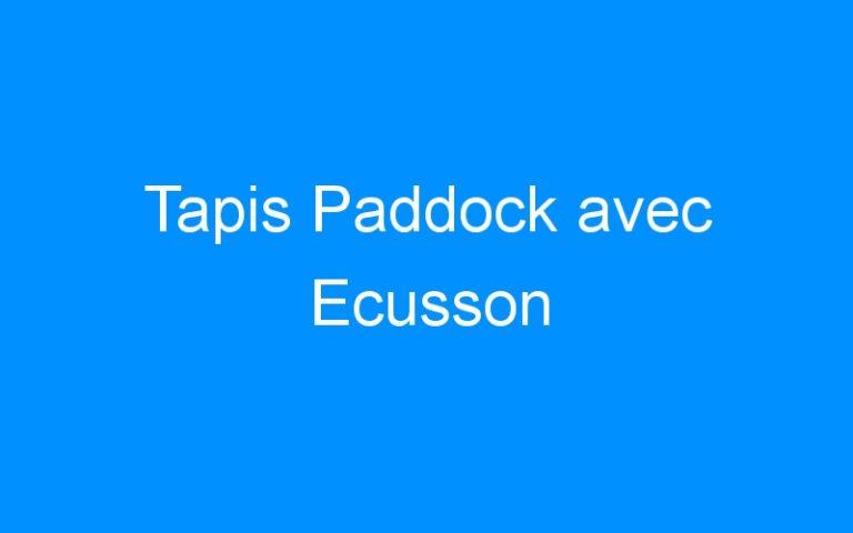 Tapis Paddock avec Ecusson