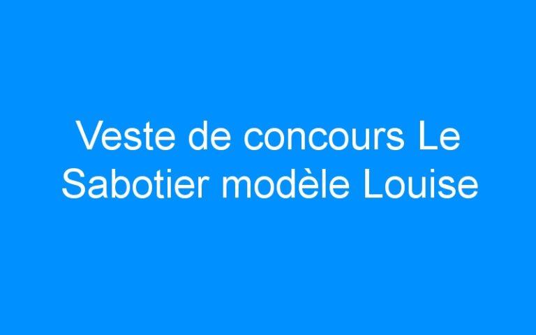 Veste de concours Le Sabotier modèle Louise